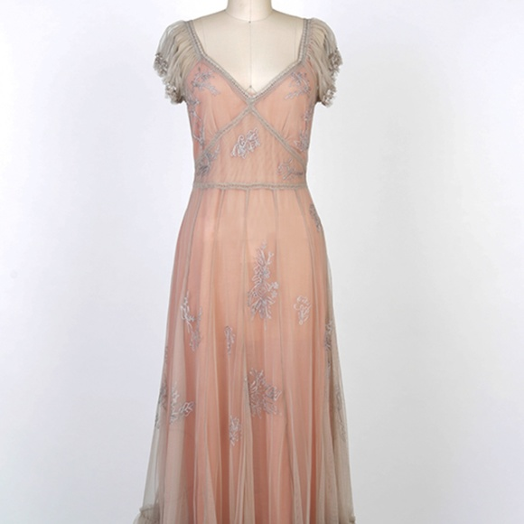 Nataya Dresses & Skirts - Nataya Vintage Inspired Downton Abbey Tea Dress M